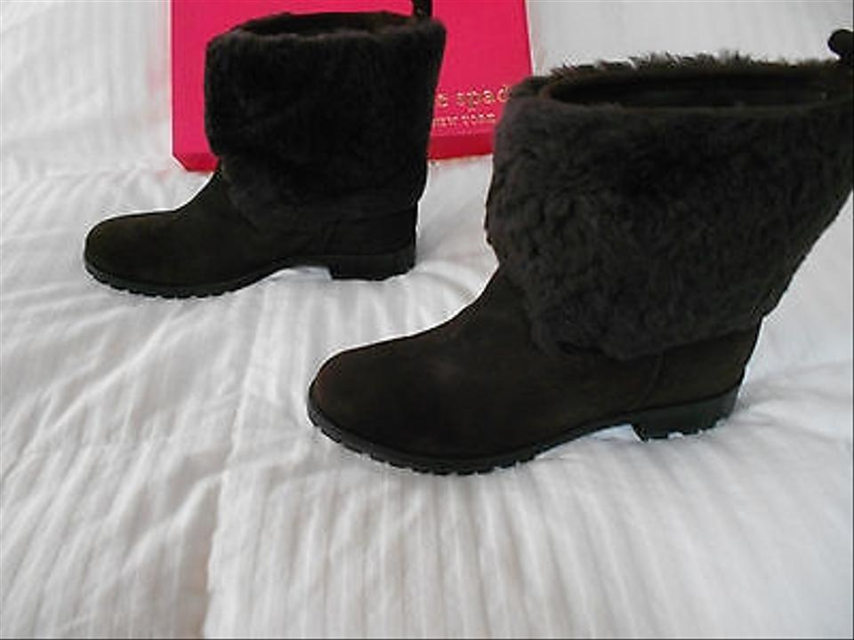 96ce2178fc2 Kate Spade Shearling Color Color Hidden Wedge Stylish Brown Boots Image 4.  12345