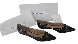 Marc Jacobs Mj21076 Studded Cut Out Vamp Black Flats