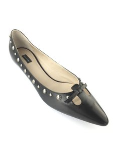 Marc Jacobs Studded Cut Out Vamp Couture Line Black Flats