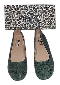 French Sole Zeppa Tone Low Wedge Forest Green Flats