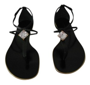 Casadei Elegant Swarovski Crystal Made In Italy Black Sandals