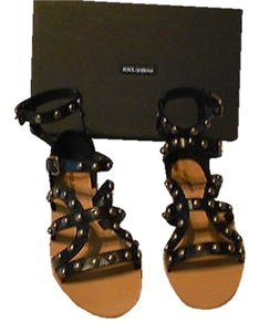 Dolce&Gabbana Studded On-trend Made In Italy Black Sandals