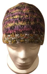Hand knit multi-color cap Multi-color Knit Beanie Cap