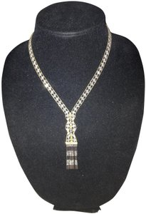14K Gold Two-Tone Bead Hula Necklace - 17