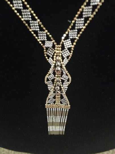 Other 14K Gold Two-Tone Bead Hula Necklace - 17