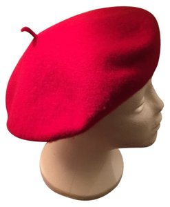 RN #73277 Red Classic French Wool Beret Winter Hat