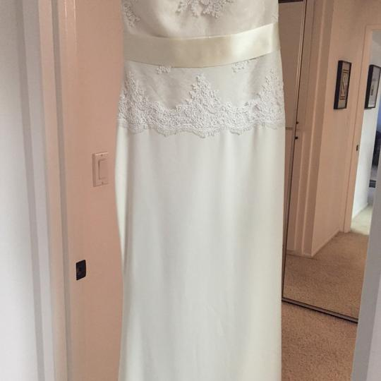 Cream Polyester Spandex Nylon; Polyester Lining Odessa Gown Vintage Wedding Dress Size 2 (XS)