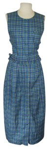BLUE GREEN PLAID Maxi Dress by Herman Geist Jumper