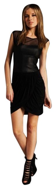 Preload https://item4.tradesy.com/images/bcbgmaxazria-black-leather-mesh-draped-above-knee-night-out-dress-size-6-s-9733093-0-2.jpg?width=400&height=650