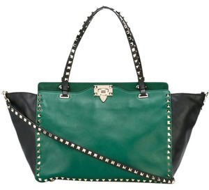 Valentino Tote in Green/Black