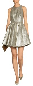 Alice + Olivia Tevin Shimmery Open Back Party Dress