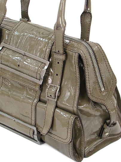Givenchy Patent Leather Front Flap Silver Hardware Belted Shoulder Bag