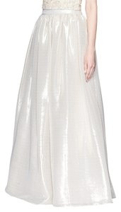 Alice + Olivia Abella Metallic Maxi Skirt Peach and champagne-tone