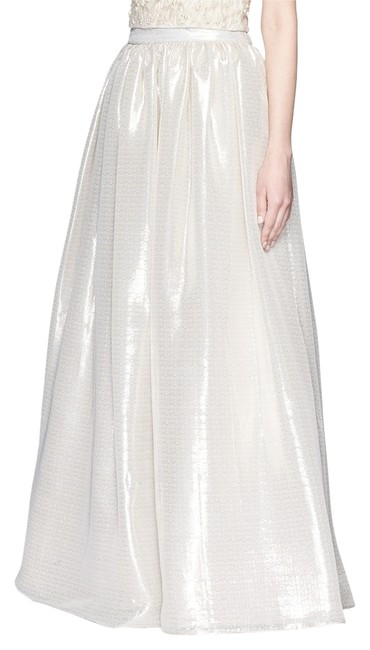 Item - Peach and Champagne-tone 2015 'abella' Metallic Lame Ball Gown New Skirt Size 0 (XS, 25)