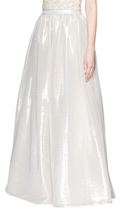 Alice + Olivia Abella Metallic Ball Gown Maxi Skirt Peach and champagne-tone