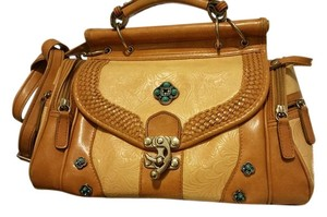 Other Long Strap Stage Coach Western Satchel in Brown torquise