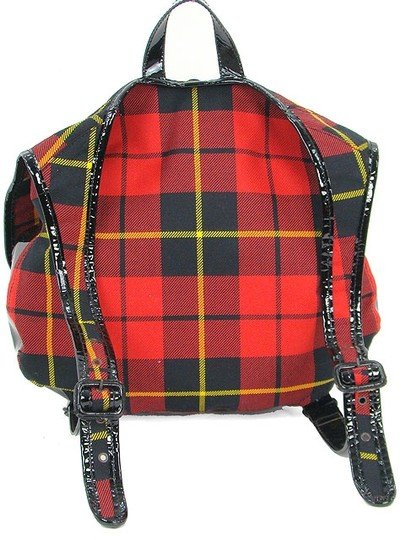 Jean-Paul Gaultier Patent Leather Patent Wool Front Flap Backpack