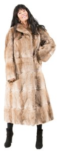 MUSQUASH MUSKRAT FUR COAT Real Fur Coat