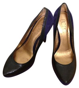 BCBG Paris High Heel Suede Navy and Royal Blue Pumps