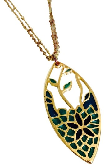 """Other """"Stained Glass"""" Pendant Necklace"""