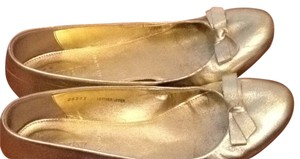 J.Crew Metallic Gold Flats