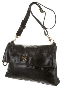 Tory Burch Leather Glossy Gold Cross Body Bag