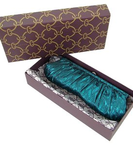 Kotur Brocade Metallic Crystal Blue, Turquoise Clutch