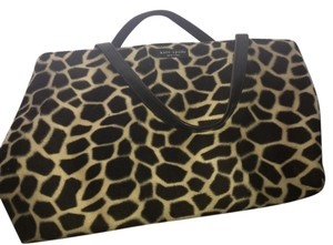 Kate Spade Vintage Faux Fur Satchel in Leopard