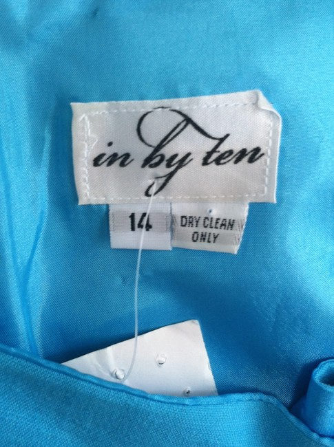 in by teen short dress Blue New Shift Square Neck on Tradesy
