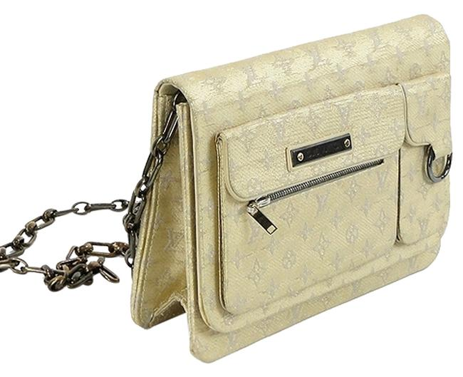 Louis Vuitton Shoulder Handbag - Monogram Accordian Beige Ivory Gold Canvas Leather Cross Body Bag Louis Vuitton Shoulder Handbag - Monogram Accordian Beige Ivory Gold Canvas Leather Cross Body Bag Image 1