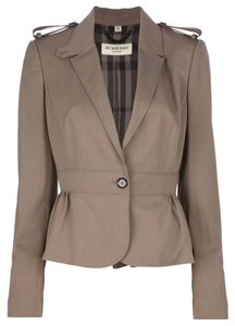 Burberry Size 6 Like New Taupe Blazer