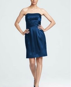 David's Bridal Navy 83707 Dress