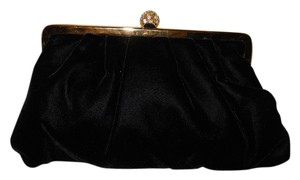Valerie Stevens Velvet Rhinestone Evening black Clutch
