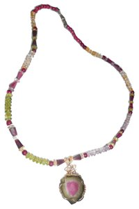 Watermelon Tourmaline Neceklace,Garnet,Parado And Other Stones18