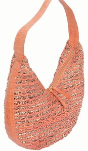 Nancy Gonzalez Python Crocodile Woven Snakeskin Shoulder Bag