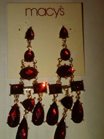 Preload https://item2.tradesy.com/images/macy-s-long-red-ruby-and-gold-chandelier-drop-earrings-973931-0-0.jpg?width=440&height=440