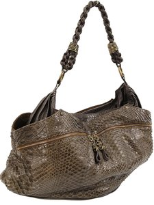 R&Y Augusti Python Snakeskin Braided Shoulder Bag