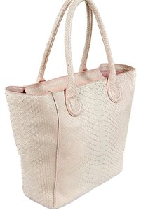 Raoul Python Snakeskin Crocodile Tote in Pink