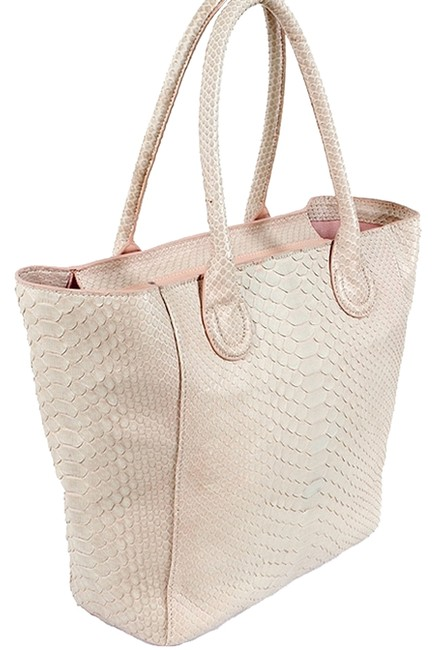 Raoul Handbag - Light Snake Leather Pink Python Tote Raoul Handbag - Light Snake Leather Pink Python Tote Image 1