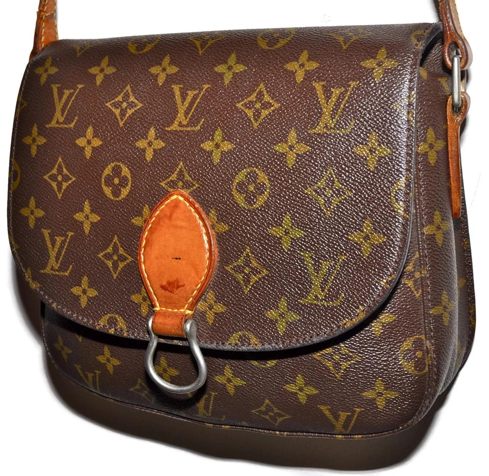 f71118175556 Louis Vuitton Saint Cloud Gm Large Monogram Flap Brown Leather   Coated  Canvas Cross Body Bag - Tradesy