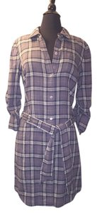 Juicy Couture short dress Blue Gray While Plaid Cozy Cozy Flannel on Tradesy