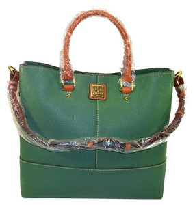 Dooney & Bourke Shopper Large Dillen Leather Tote in SAGE