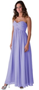Purple Strapless Sweetheart Long Chiffon Dress