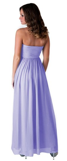 Purple Chiffon Strapless Sweetheart Long Formal Dress Size 18 (XL, Plus 0x)