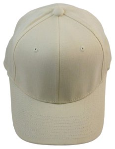 Flexfit Ball Cap Hat Brushed Twill 6-Panel, Elastic Headband - Natural,S/M