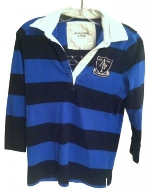Preload https://img-static.tradesy.com/item/9741/abercrombie-and-fitch-blue-and-navy-34-sleeve-collar-rugby-tee-shirt-size-4-s-0-0-650-650.jpg