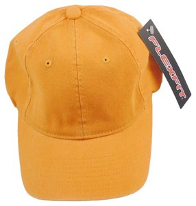 Flexfit Ball Cap Hat Garment Washed Cotton 6-Panel Cap - Orange,S/M