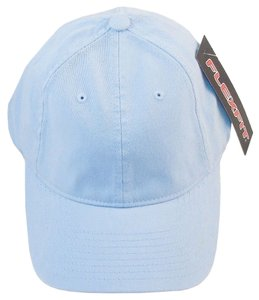 Flexfit Ball Cap Hat Garment Washed Cotton 6-Panel Cap -Light Blue,L/XL