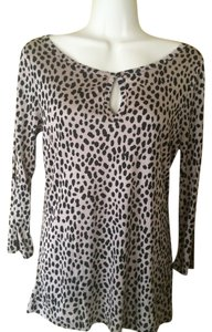 Banana Republic Animal Print Top tan, black