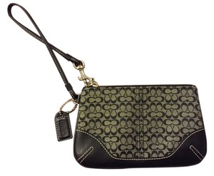 Coach Wristlet in Black/Smoke Black